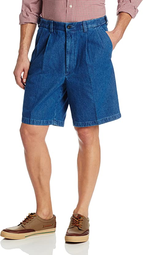 Haggar Men's Work To Weekend Expandable-Waist Pleat-Front Short at Amazon  Men's Clothing store