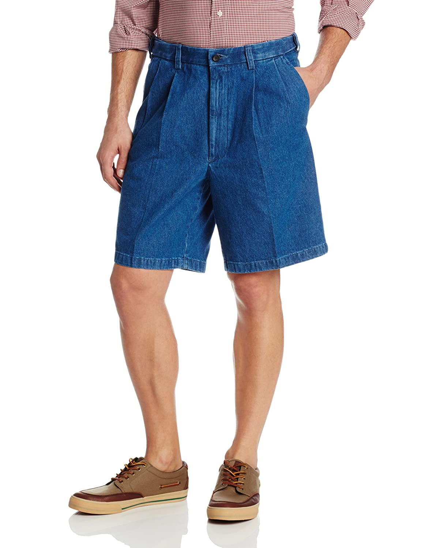 Haggar Men's Work To Weekend Expandable-Waist Pleat-Front Short Haggar Men's Bottoms HS10161