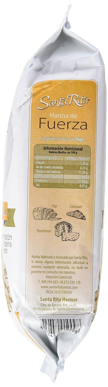 Santa Rita Harina de Trigo de Fuerza - 12 Paquetes de 1000 gr - Total: 12000 gr: Amazon.es: Alimentación y bebidas