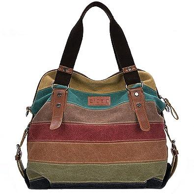 7118334dd7a9 Aibag Multi-Color Daily Purse Women s Canvas Top-handle Handbag Crossbody
