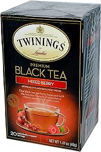 Twinings Premium Mixed Berry Black Tea, 20 Count