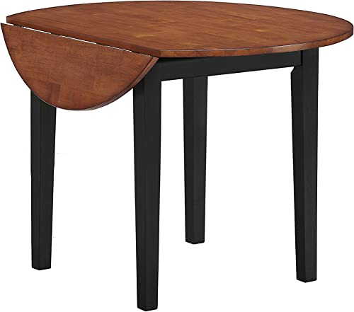 Intercon Arlington Drop Leaf Table, 42 , Black Java