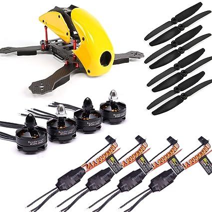 Amazon com: USAQ RoboCat 270mm FPV Racing Drone Build Kit