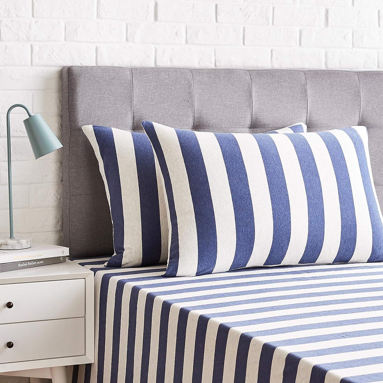 Funda de almohada de microfibra Azul claro 50 x 80 cm 2 unidades Basics
