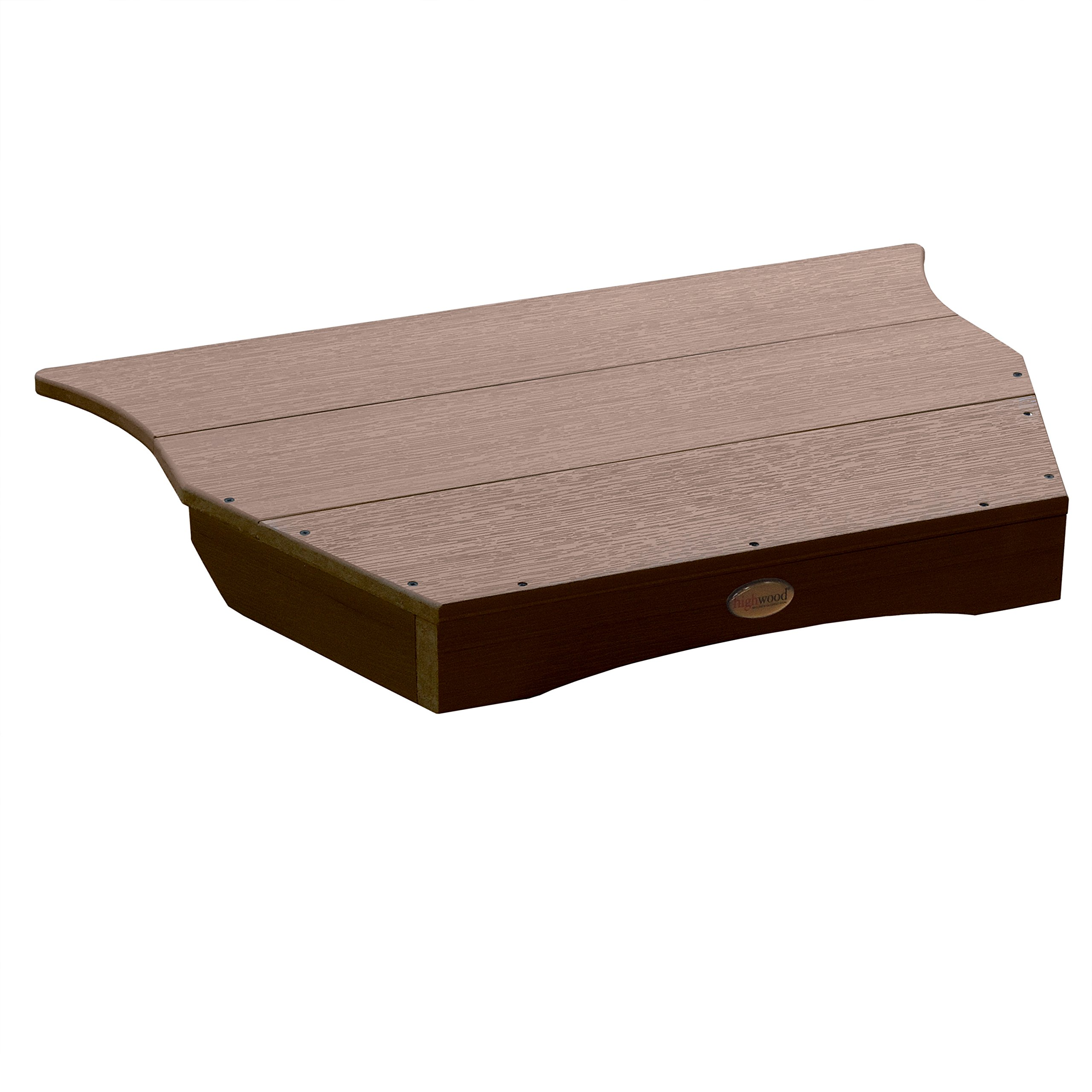 Highwood Adirondack Tete-a-Tete Connecting Table, Weathered Acorn