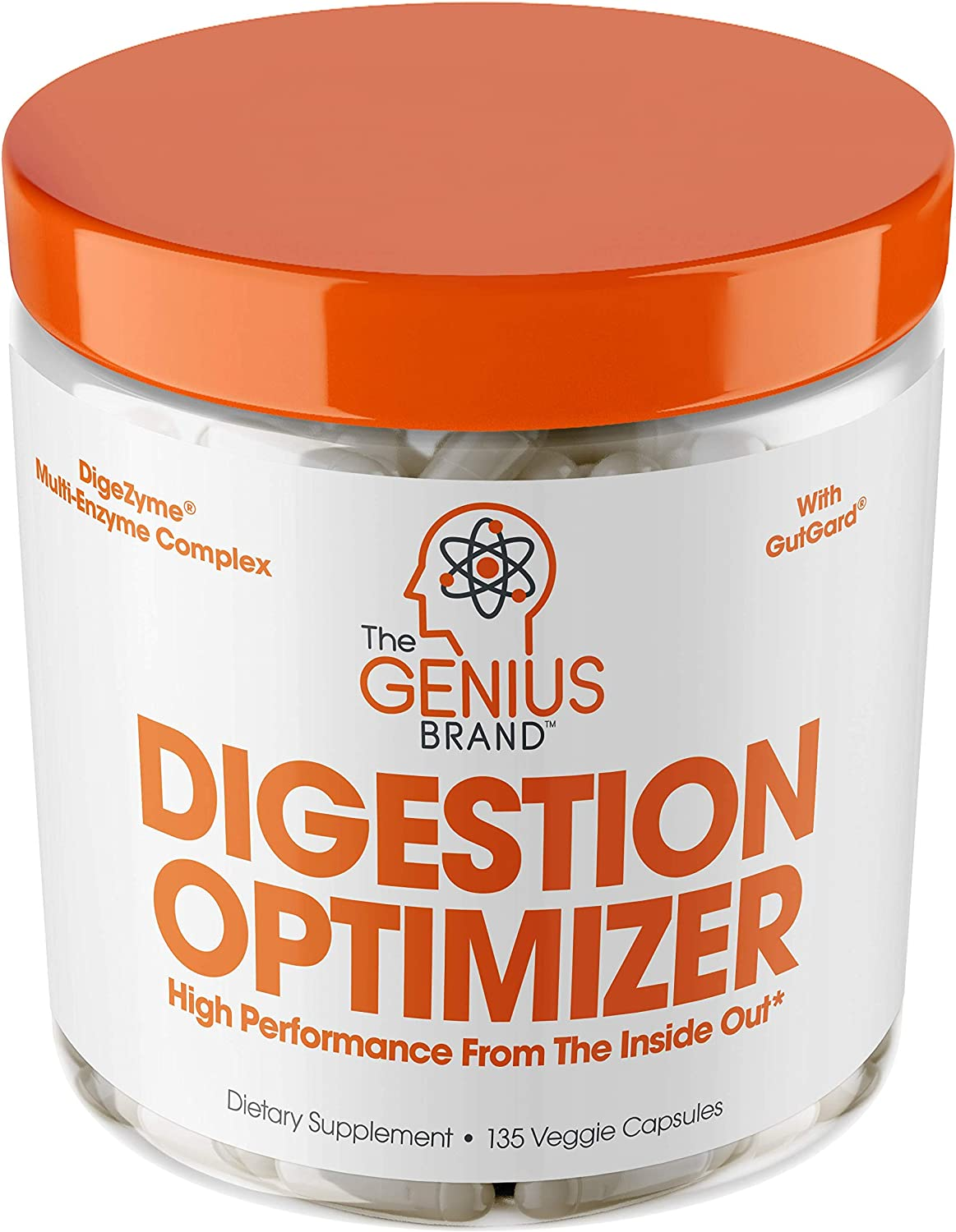 Genius Digestive Enzymes for Digestion & Total Wellness | Restore Gut Heath w/Bromelain, Ginger Root & Prebiotics – Natural Relief Formula for Gas, Heartburn, Constipation | 135 Vegetarian Capsules: Health & Personal Care