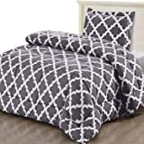Utopia Bedding Printed Comforter Set (Twin, Grey) with 1 Pillow Sham - Luxurious Brushed Microfiber - Goose Down…