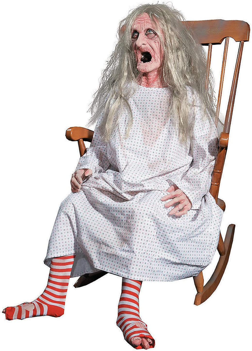 Fun Express - Rocking Granny Animated for Halloween - Home Decor - Decorative Accessories - Home Accents - Halloween - 1 Piece
