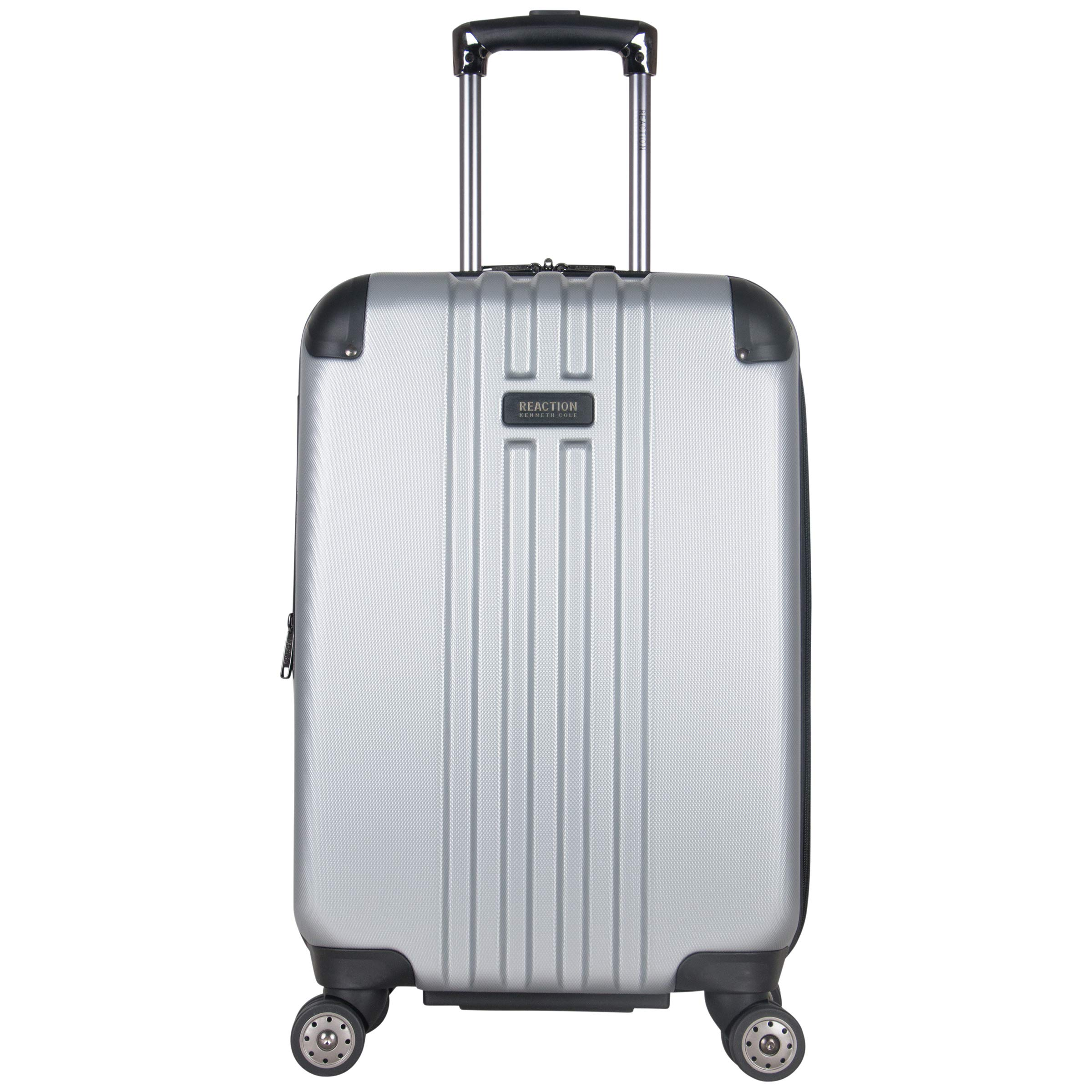 Kenneth Cole Reaction Reverb 20'' Hardside Expandable 8-Wheel Spinner Carry-on Luggage, Light Silver