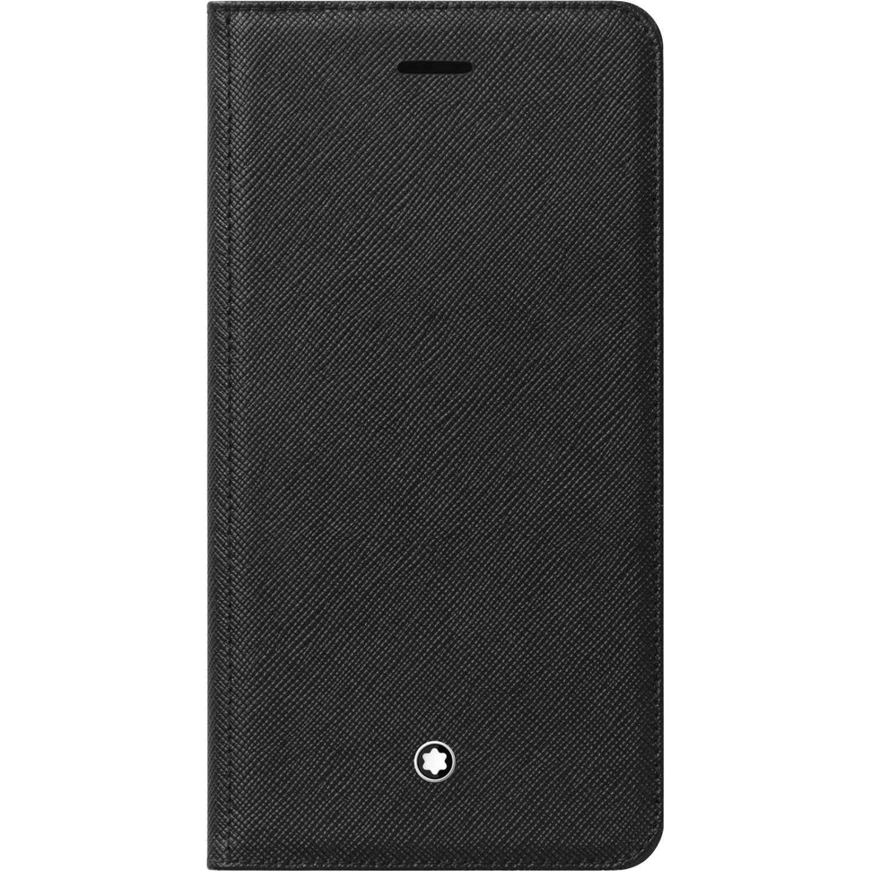 Genuine Original Official Montblanc Sartorial Saffiano Leather Flip Cover Case Meisterstuck 118475 for iPhone 8+ Plus