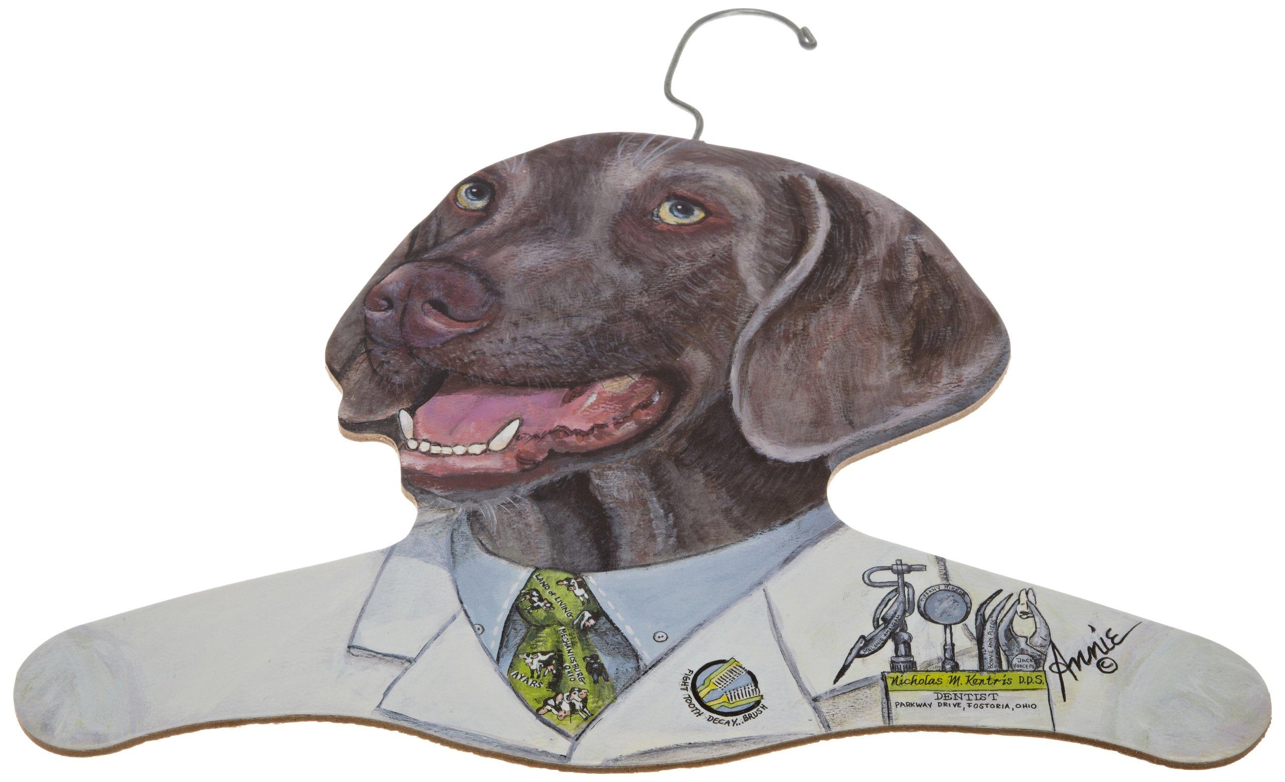 The Stupell Home Decor Collection Weimaraner Wearing Dentist Jacket Hanger