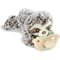 RaZbaby RaZbuddy RaZberry Teether Caramel/Pacifier Holder w/Removable Baby Teether Toy - 0M+ - Bpa Free - Sloth