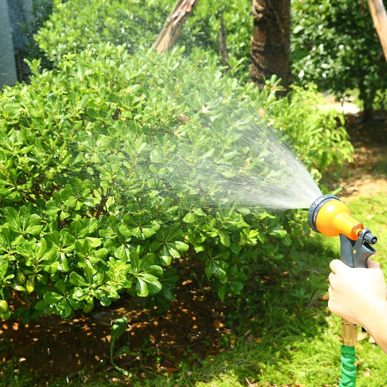 Ohuhu 25 Feet Strong Expanding Watering Garden Hose Expandable Garden Hose 25 ft Flexible Water Hose