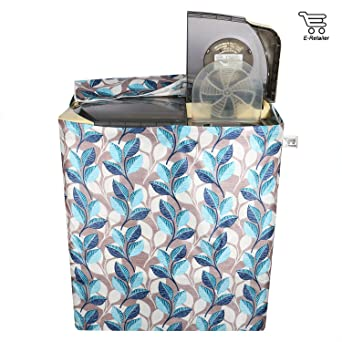 E Retailer trade; Polyester Cotton Semi Automatic Washing Machine Cover  Size : Suitable for 6 kg to 7 kg, Color : Blue  Washing Machine Covers
