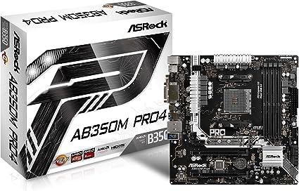ASRock AB350M PRO4 carte m/ère noir