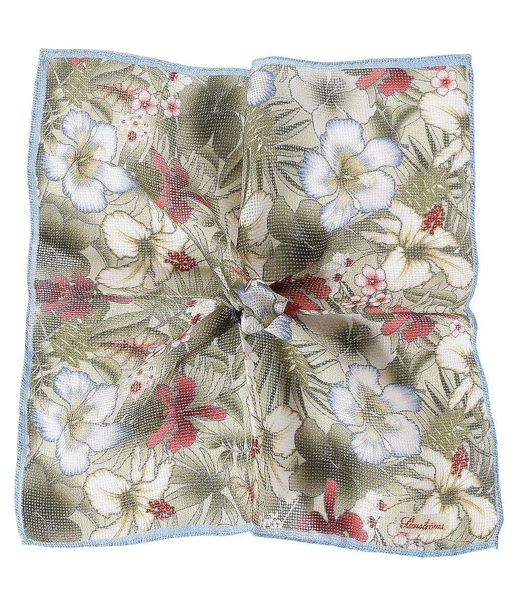 Stenstroms Mens Silk Patterned Pocket Square Blue
