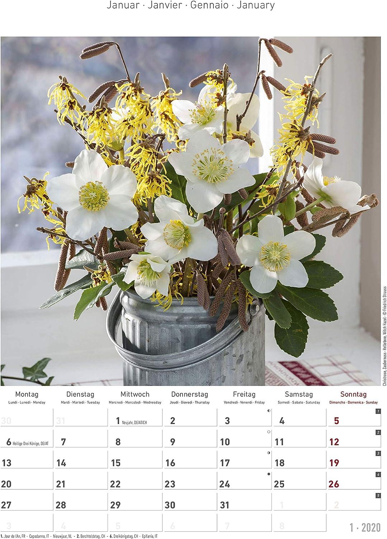 "Calendario da muro /""Fiori/"" 2020 23.7 x 34 cm"