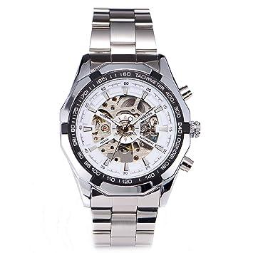 CLE DE TOUS Reloj de Pulsera para Hombre Mecanico Esfera Hueca TM340 Blanco
