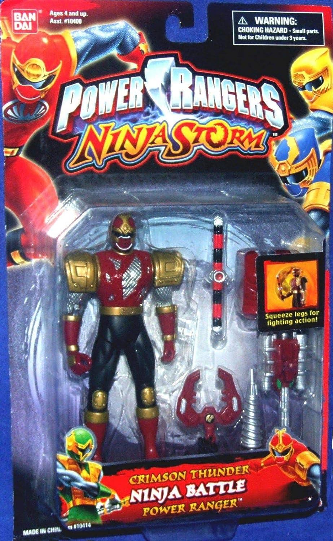 Amazon.com: Power Rangers Ninja Storm Crimson Thunder Ninja ...