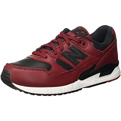 New Balance M530 Lux Leather Men's Rugby, Size 10, Color Burgundy/Black   Fashion Sneakers