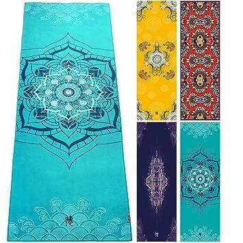 Toallas con estampados DYZD, 100% microfibra, toalla para yoga, toalla de playa
