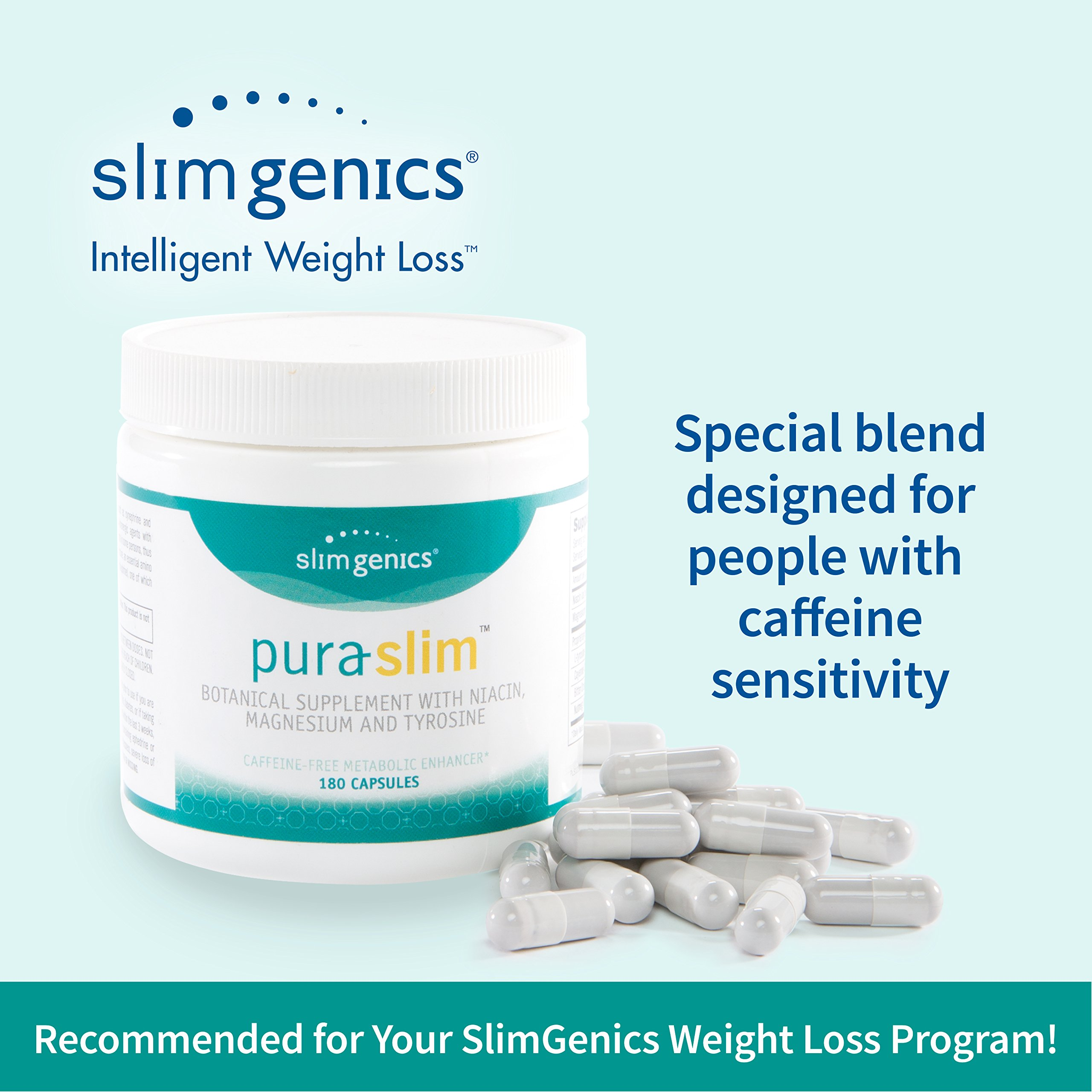 SlimGenics Pura-Slim | Metabolizer Herb – Metabolic Booster with Powerful Herbs and Nutrients, Thermogenic Fat Burners for Weight Loss, Fights Fatigue and Increases Energy (180 Count) by SlimGenics (Image #4)