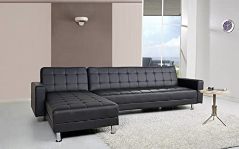 Incredible Gold Sparrow Frankfort Convertible Sectional Sofa Bed Black Camellatalisay Diy Chair Ideas Camellatalisaycom