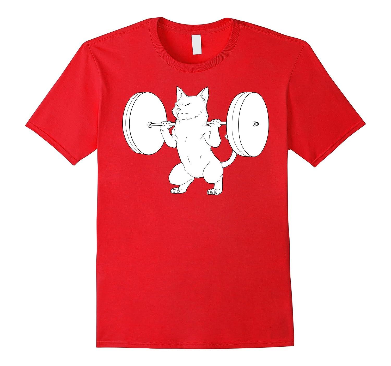 Cat Squat Powerlifting T-Shirt Cute-AZP