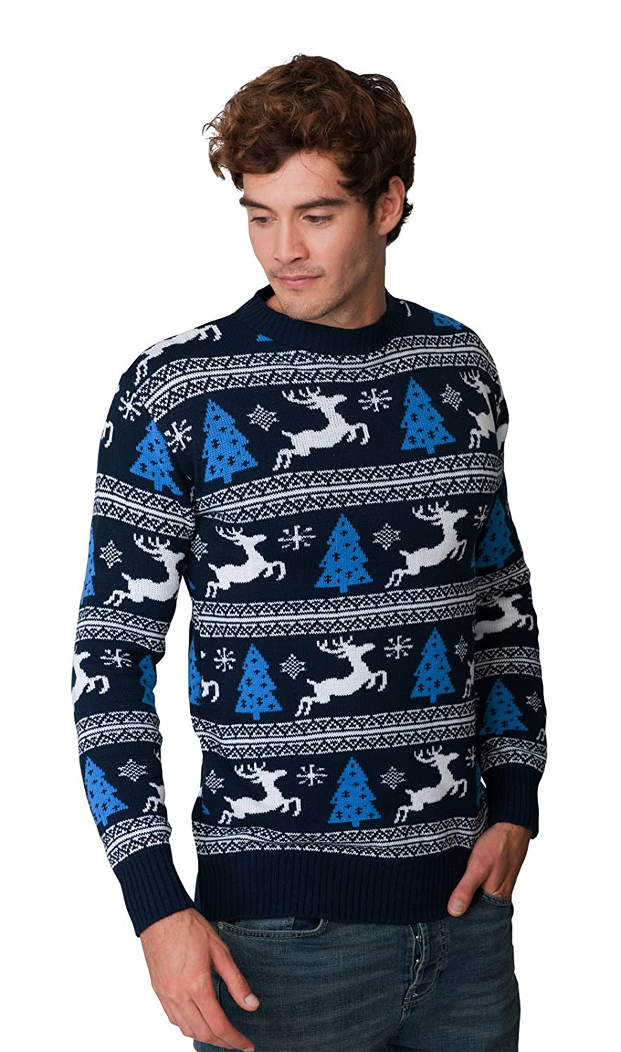 HSA Christmas Jumper New Xmas Unisex Mens Womens Novelty Retro Fairisle Santa Party Sweater Jumpers Exclusively to Ltd Sizes - S/M/L/XL/2XL/3XL/4XL