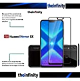 Original 6D Tempered Glass with Curved Edges and 9H Hardness - Full Glue Edge-Edge Screen Protection for Honor 8X (Black) (Limited Offer) (Black)