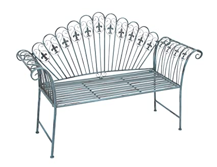 Amazoncom Deco 79 Metal Bench 57 By 40 Inch Home Kitchen