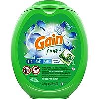 Gain flings! Laundry Detergent Soap Pacs, High Efficiency (HE), Blissful Breeze Scent, 96 Count