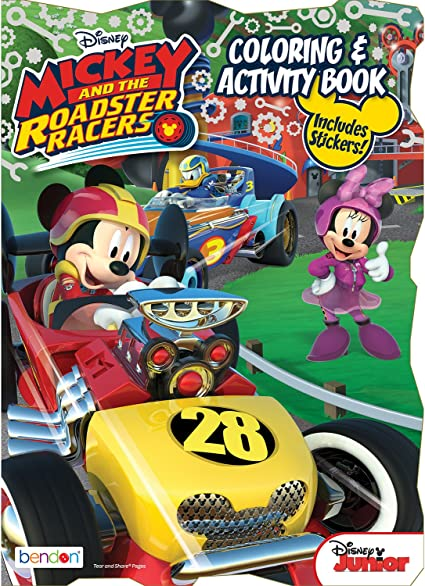 Mickey And The Roadster Racers Coloring Pages - GetColoringPages.com | 583x425