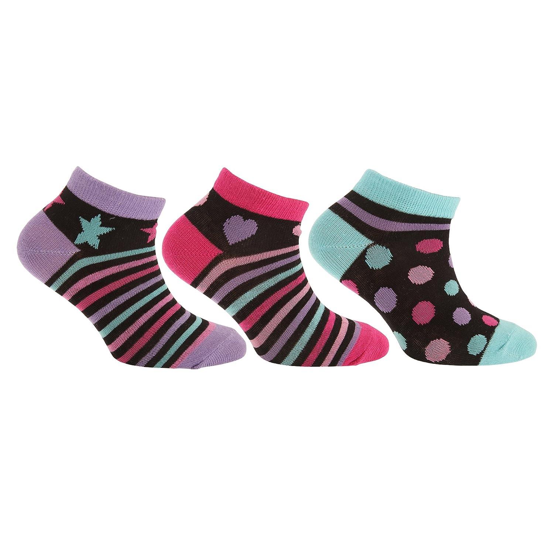 Pertemba Global Paquete de 3 calcetines tobilleros infantiles