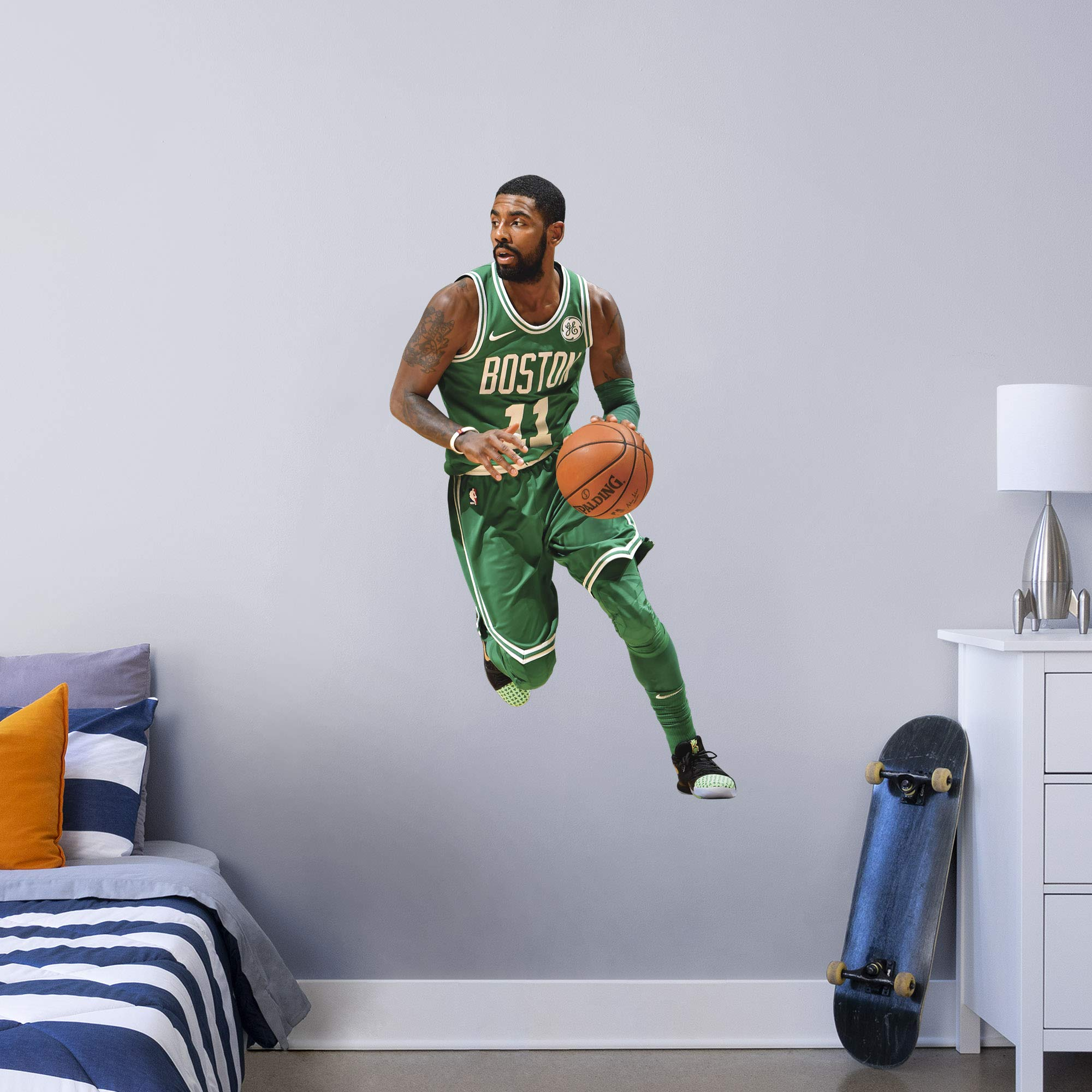 Fathead NBA Boston Celtics Kyrie Irving Kyrie Irving- Officially Licensed Removable Wall Decal, Multicolor, Giant - 1900-00305-003 by FATHEAD
