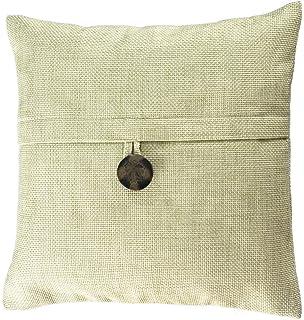 Amazon Com Decorative Button Grey Throw Pillow Cover 18 Home