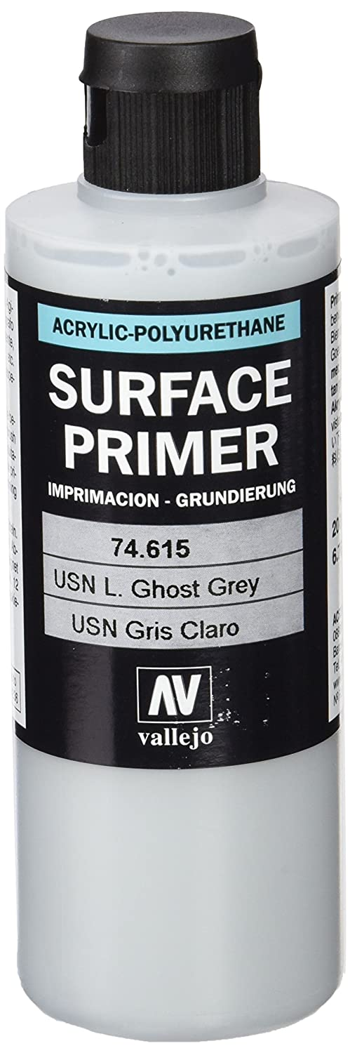 Vallejo Model Color 200 ml Polyurethane Primer - USN Light Ghost Grey