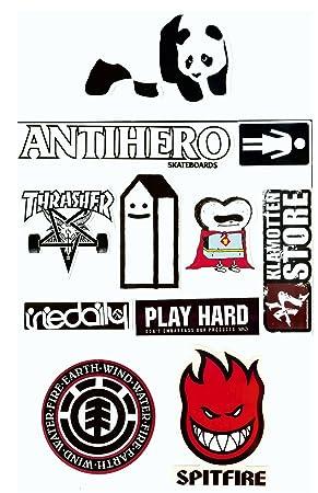 Skate Marken Aufkleber 10 Sticker Set Streng Limitiert Nur