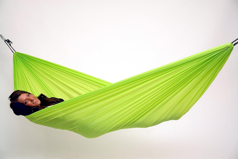 amazon     traveller lite lightweight camping hammock parachute polyester hammock yellow   garden  u0026 outdoor amazon     traveller lite lightweight camping hammock      rh   amazon
