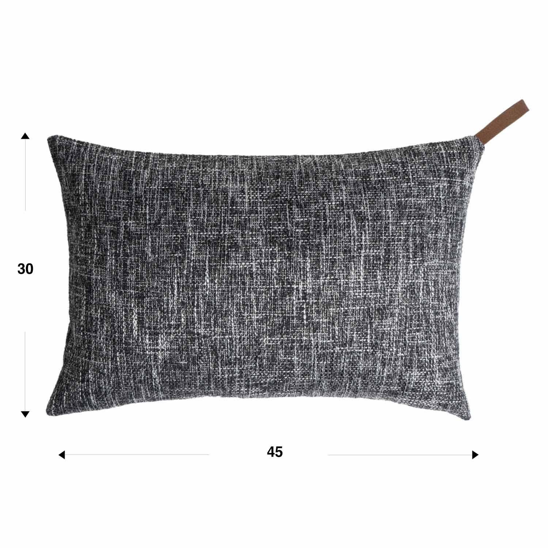 Black Velvet Studio Funda cojín Elegance 25% algodón y 75% poliéster, Color Gris. Jaspeado, Tejido Rico en Textura 30x45 cm.