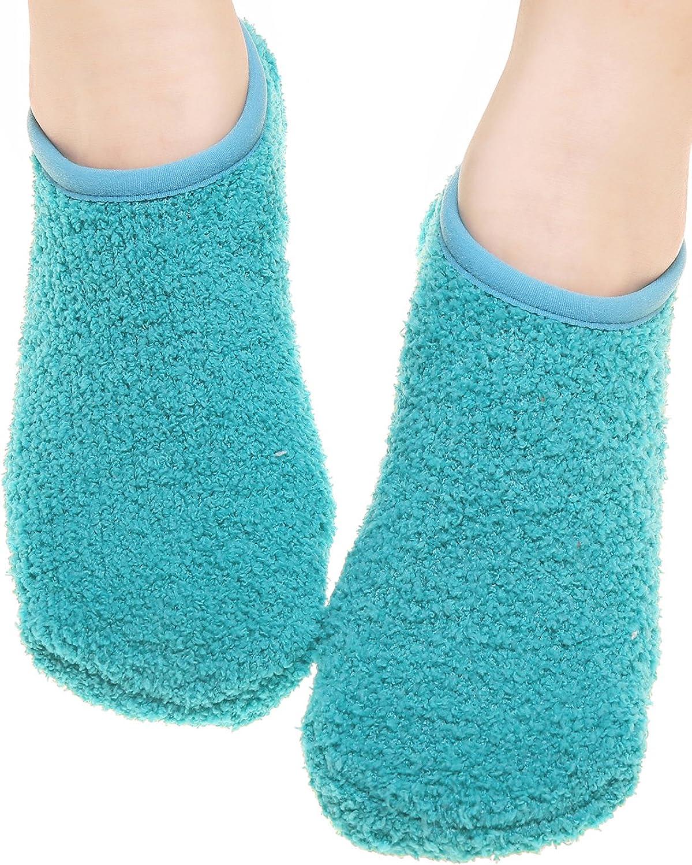 dd1b792a3f9 Fashion Womens Fluffy Socks Non Skid Soft Sock Slipper for Floor Solid Color