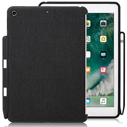 new style e0ecb 6f47b KHOMO - iPad 9.7 Inch Case (2017 & 2018) with Pencil Holder - Companion  Cover - Perfect Match for Apple Smart Keyboard and Cover
