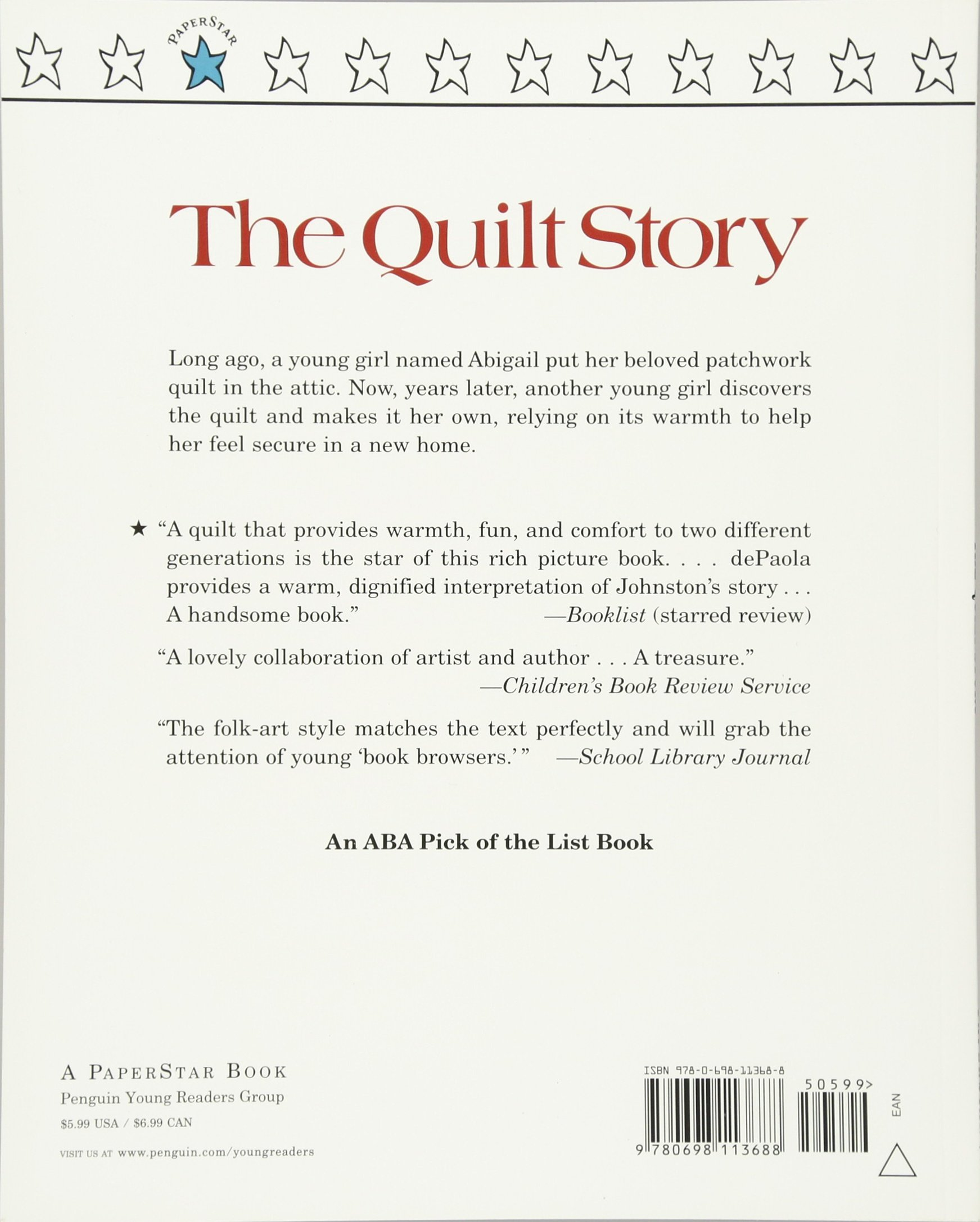 the quilt story tony johnston tomie depaola 9780698113688