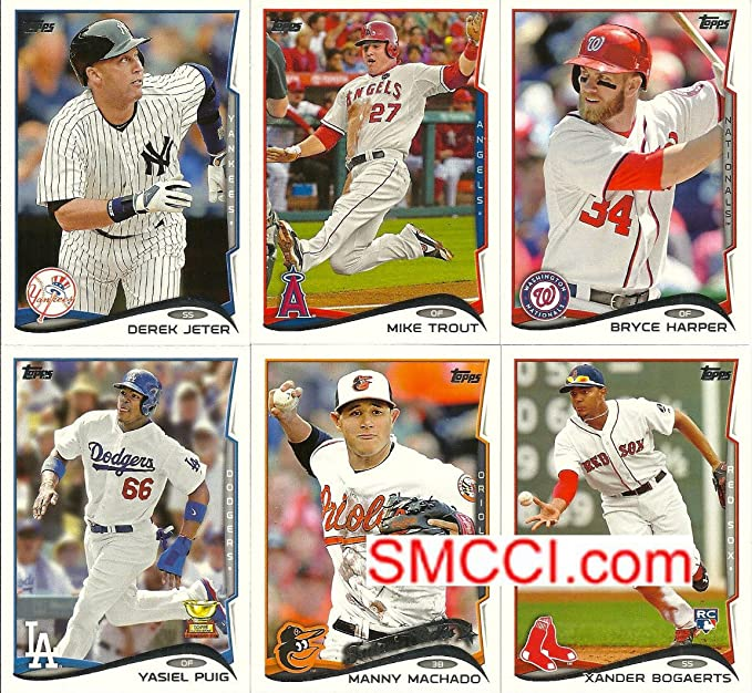 Amazon.com: COMPLETE 2014 TOPPS SERIES ONE BASBALL CARD SET 330 HAND COLLATED: Toys & Games