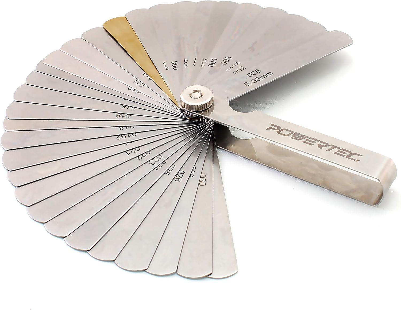 Gauges Newsmarts 32 Blades Gauge Gap Guage Tool Feeler Gauge Dual ...
