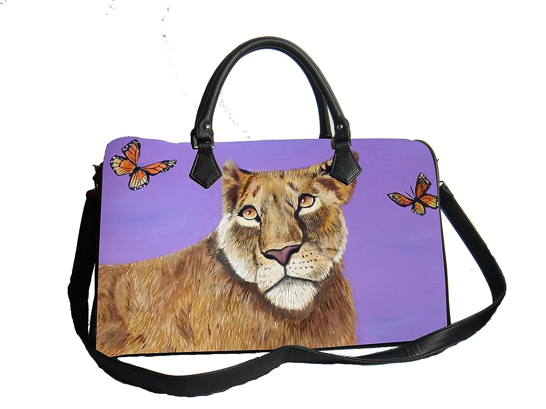 Vegan Leather Handbag with Removable Shoulder Strap Read How /… Support Wildlife Conservation