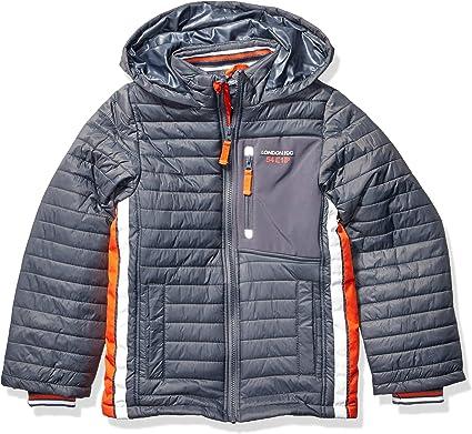 LONDON FOG Boys Little Active Puffer Jacket Winter Coat 4 Super red