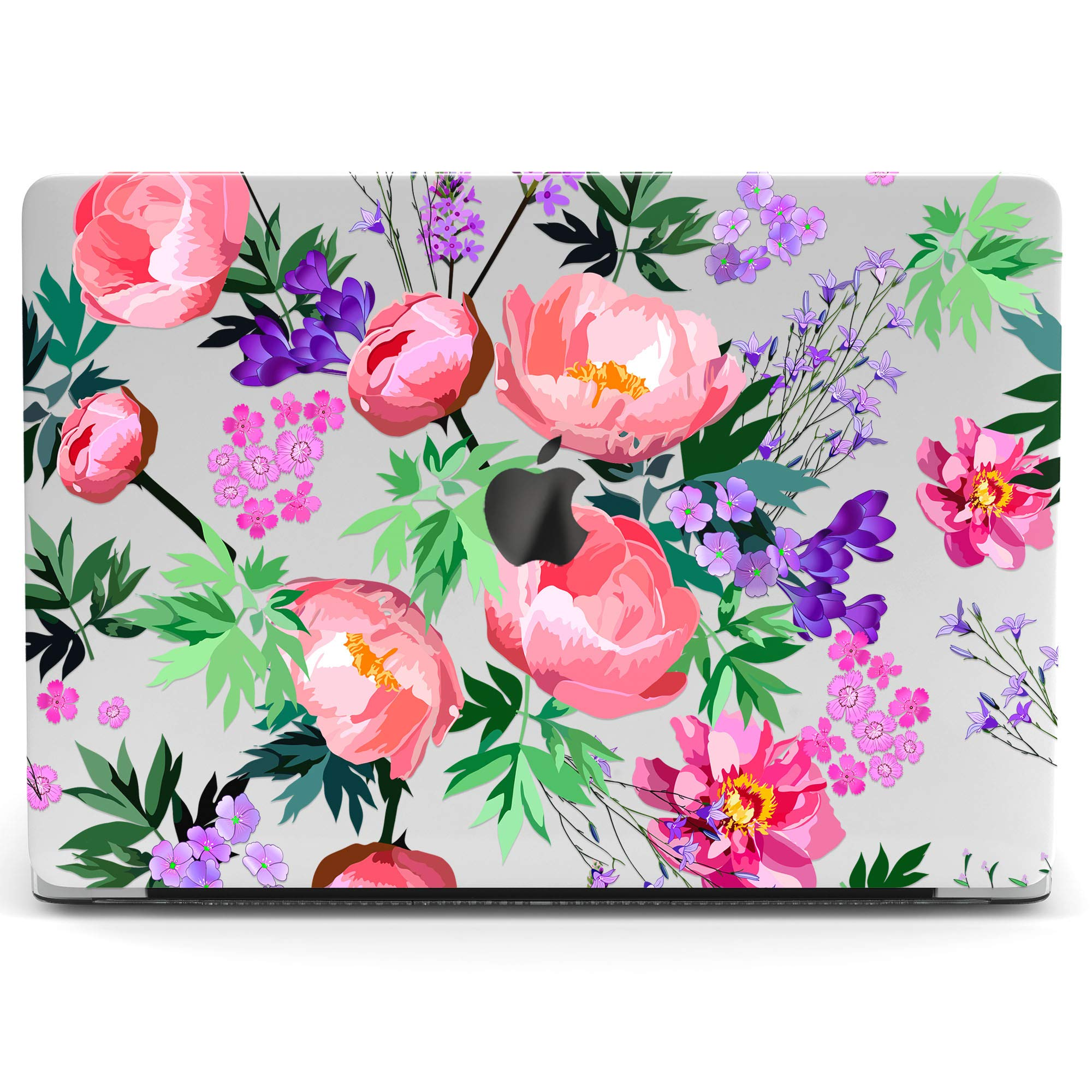 Wonder Wild Mac Retina Cover MacBook Pro 15 inch 12 11 Clear Hard Case Air 13 Apple 2019 Protective Laptop 2018 2017 2016 2015 Plastic Print Touch Bar Flowers Wildflowers Bouquet Pink Peon Watercolor