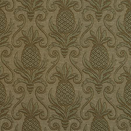 Pineapple Durable Jacquard Upholstery Grade Fabric By The Yard E525 Green