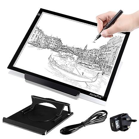 A3 LED caja de luz Tracing USB con suministro de corriente ultrafina 19 inch Luz Pad para, diseño de dibujo, plantilla de dibujo, dibujo